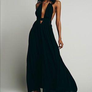 Black Look Into the Sun Maxi Dress